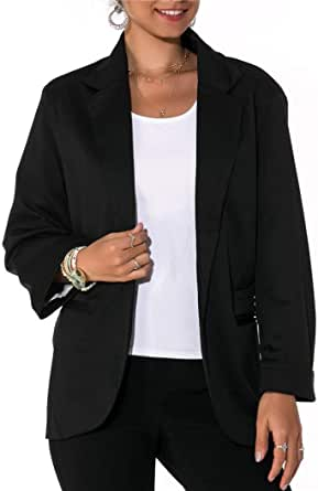 Imbry Boyfriend Blazers for Women Cool and Fashionable Casual Suit Coat Jacket