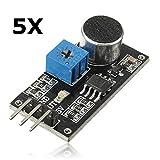 Ils - 5 Stück Ton Erkennung Sensormodul LM393 Chip Elektret-Mikrofon für Arduino