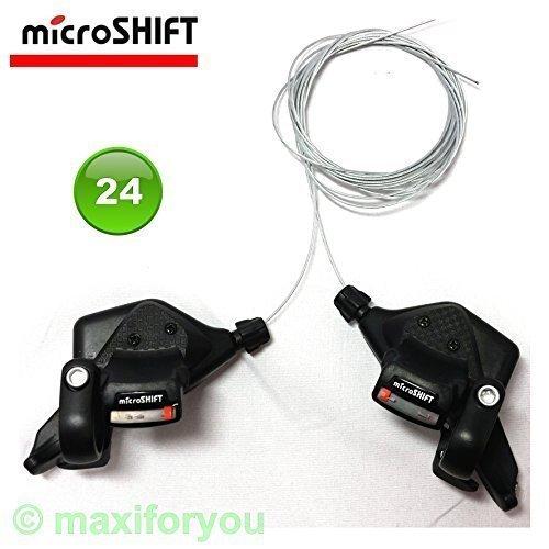01080216 MTB-Schalthebel 3 x 8 Gang microSHIFT TS-70-8 Fahrradschaltung