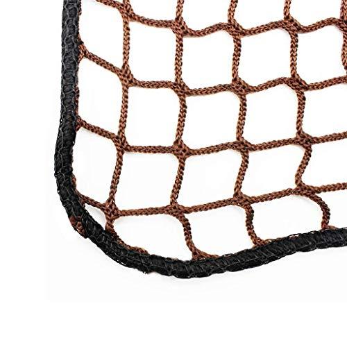 Wlh Nylon-Fallschutznetz Sicherheitsnetz, Kinderschutznetz Balkon Treppe Hochbett Bruchsicheres Netz (Farbe: Braun) (Spezifikation: 4 Mm Seil, 3 cm Loch) (Size : 0.9 * 1m)