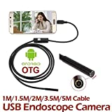 Anyutai Endoscopio Android 3,5 M 7 Mm Ip67, Endoscopio Usb Di Rilevamento Led Camera Tube (Snapshot Key Otg Line)