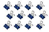 Maul Original Mauly Klemmer 19 mm, Foldback-Klemmer, Klemmweite 7 mm, 2141937, Karton 12 Stück, Blau