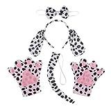 Sharplace 4 Pcs Conjunto de Disfraces Dálmata Manchado en Forma de Cachorro de Color Negro Traje de...