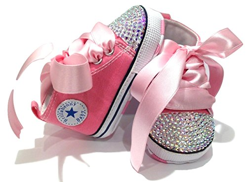 36aba742d4 SCARPE SCARPINE STRASS 0-3 MESI BIMBA NEONATA ROSA con CRISTALLI AURORA  BOREALE / Baby Shoes Pink Birthday Party Events Wedding Gift Rhinestone  Crystal AB ...