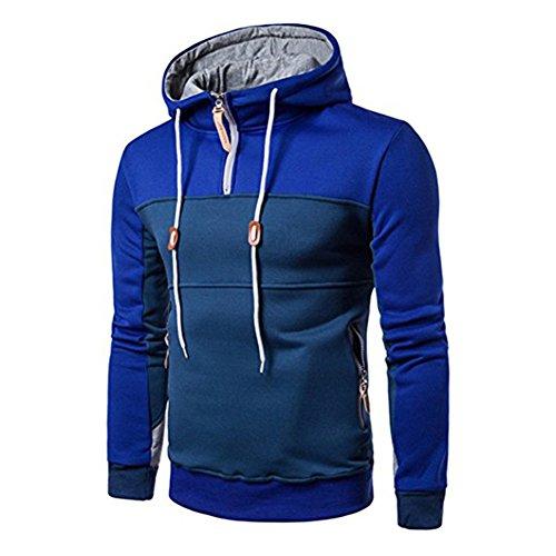 Juleya Hoodie Sweatshirt Décontracté Pull - Pull à Capuche pour Hommes Automne Hiver Manches Longues Chemises Sport Outwear S, M, L, XXL