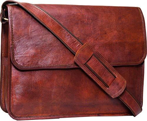 ALASKA EXPORTS - Handgefertigte Laptoptasche, Messenger Bag, Executive Business Büro, Arbeitstasche, Schultertasche mit Überschlag und stoßfester MacBook-Polsterung für Herren, Damen, Jungen, Mädchen, -