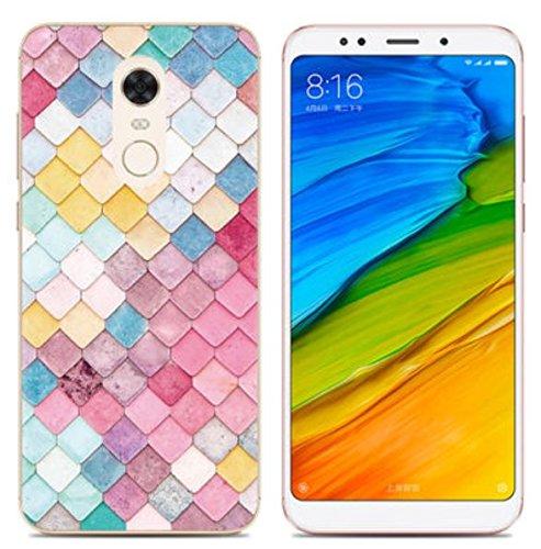 Prevoa Funda para Xiaomi Redmi 5 Plus - Colorful Silicona TPU Funda Case para Xiaomi Redmi 5 Plus Smartphone 5,99 Pulgadas - 10