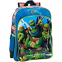 Tortugas Ninja Mochila Escolar, 19.2 Litros, Color Azul