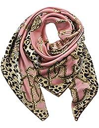 Helan femmes Réel Soie Naturelle 110 X 110 cm foulards carrés 63893871796