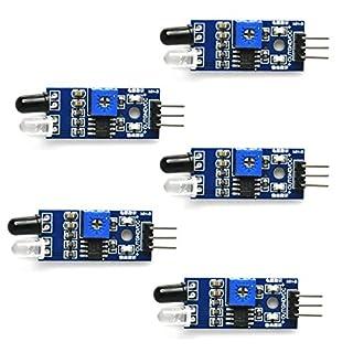 Gikfun IR Infrared Obstacle Avoidance Sensor Module for Arduino Smart Car Robot Diy (Pack of 5pcs) EK1254x5U