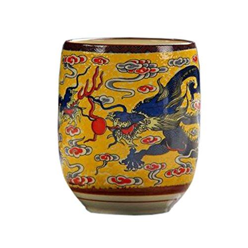 Blancho 2 PCS Tasses à thé en céramique chinoise et japonaise Tasse à bière en tasse à thé Kung Fu Tasse à eau #05