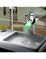 &QQ LED todo el cobre, grifo de la bañera, agua caliente y fría, grifo separado de la cuenca