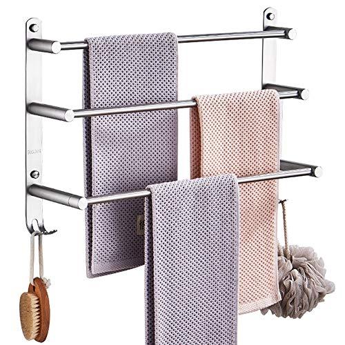 ZHANWEI Badezimmer Ablagen Duschkorb Badregal An Der Wand Montiert Edelstahl 304 3 Stufen Getreten Handtuchhalter, 6 Größen (größe : 30x12.5x33cm)
