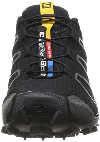 Salomon  Speedcross 3 W, Chaussures de trail Salomon Speedcross 3 W Light Onix Topaz Blue Dark Cloud femme Noir (Black/Black/Silver Metallic X)