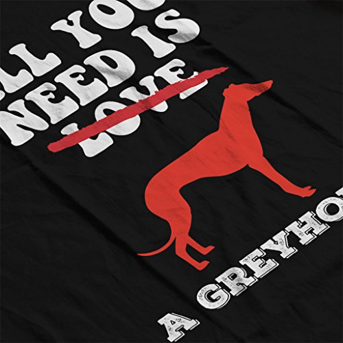 All You Need Is A Greyhound Womens Hooded Sweatshirt Black