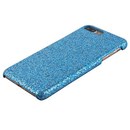 Voguecase® Pour Apple iPhone 7 4,7, Rigide Plastique Shell Housse Coque Étui Case Cover(en bois motif-Marron clair)de Gratuit stylet l'écran aléatoire universelle Bling-Bleu