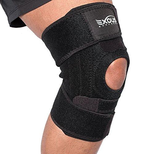 EX-701 Kniebandage für Patella Tendinitis - meniskus tear - flexibel mit Seitenstabilisatoren verbesserten Komfort hilft lateralen und medialen Ligamentum - Anti-Rutsch-Design für Männer und Frauen