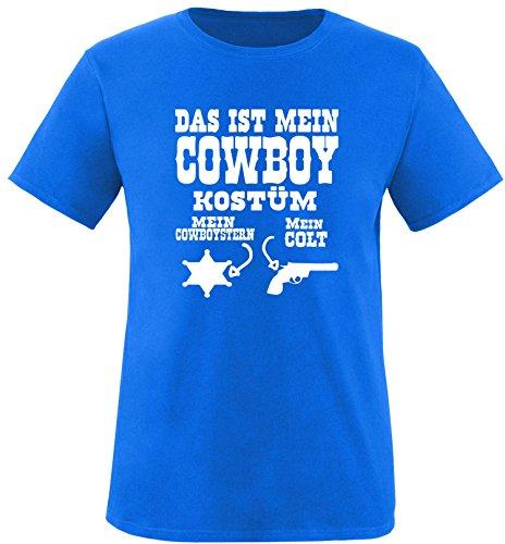 Luckja Das ist mein Cowboy Kostüm Herren Rundhals T-Shirt Royal/Weiß