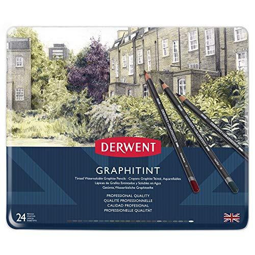 Derwent 700803 Graphitint Buntstifte in Metallbox mit 24 Stück, mehrfarbig - Pastell Fall 4 Iphone