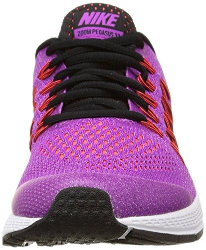 Nike Zoom Pegasus 32 (Gs) Scarpe Sportive, Ragazza Vivid Purple/Black-Brght Crmsn
