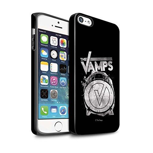 Offiziell The Vamps Hülle / Matte Harten Stoßfest Case für Apple iPhone 5/5S / Pack 6pcs Muster / The Vamps Graffiti Band Logo Kollektion Bassdrum