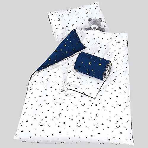 Kinderbettwäsche Mond und Sterne