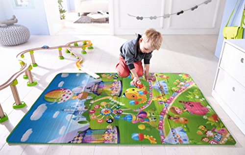The Home Talk Multi Color Learning Mat For Kids - Size 4 X 6 Feet, Material Polyester With Foam Filling