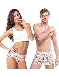 HÖTER® Lovely Pinky Herz Paar Liebhaber Unterwäsche Mens Boxer Frauen Brief