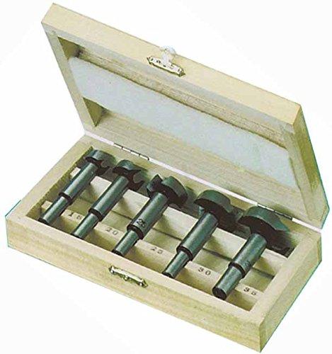 Preisvergleich Produktbild 5-tlg. Forstnerbohrer Set - Ø15 - 20 - 25 - 30 - 35 mm