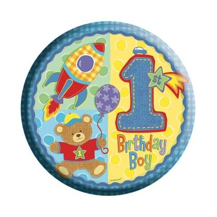 Amscan International 61mm Badge Age 1 Boy Badge
