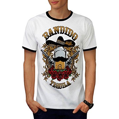 Bandido Tequila Rose Mexiko Gewehr Herren M Ringer T-shirt   (Bandido Herren Kostüm)