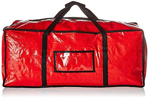 Besser Products Aufbewahrungstasche, extra groß, wiederverwendbar, strapazierfähig, mit Reißverschluss und einfachen Tragegriffen und Riemen, ideal zum Bewegen und Waschen rot