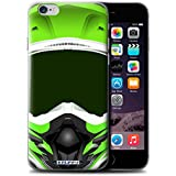 Coque de Stuff4 / Coque pour Apple iPhone 6S / Motocross/Vert Design / Casque Moto Collection