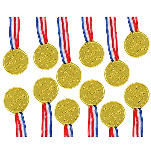 Trixes 12 Plastik Goldmedaillen - Sport Auszeichnungen