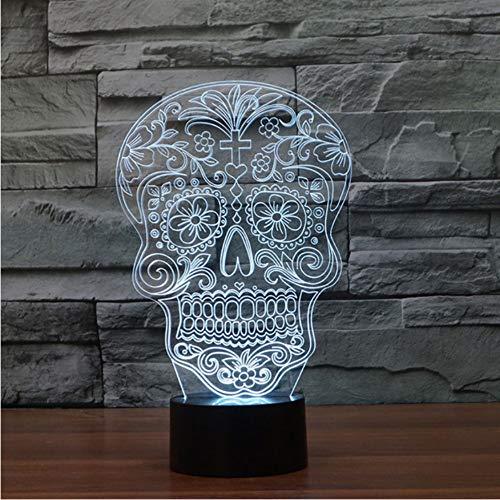 3D Led Dormitorio Lámpara de Mesa Romántica Visión Usb Resumen Figura Cráneo Modelado Creativo Accesorio de Iluminación Niños Regalos Luces Nocturnas