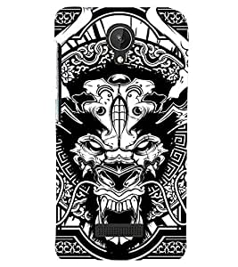 printtech Horror 2 Back Case Cover for Micromax Canvas Spark Q380