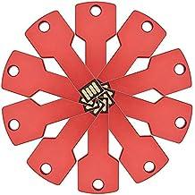 FEBNISCTE 10 piezas 8GB Rojo Llave de Metal Memorias USB 2.0 Pendrive