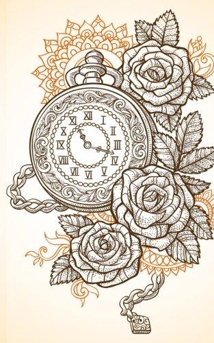 Carnet de Mots de Passe: A5 - 98 Pages - 077 - Steam Punk - Horloges - Roses par Mes Mots de Passe Horko