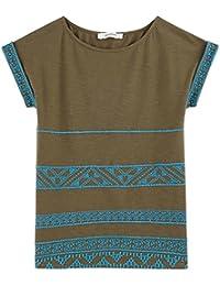 Promod Baumwoll-T-Shirt mit Stickerei