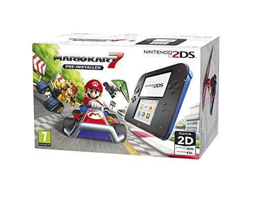 Compare Nintendo Handheld Console - Black/Blue 2DS with Pre-installed Mario Kart 7 prices