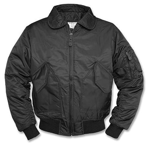 Blouson Enduit Homme - Mil-Tec US CWU Flight Veste Noir Taille