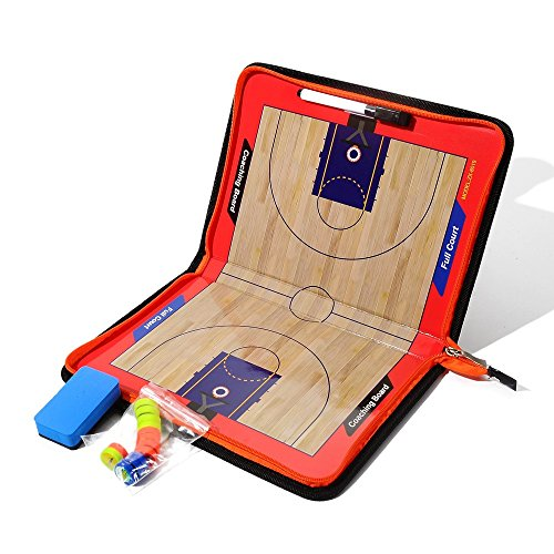 Basketball Coaching Board Magnet Tactic Board löschbare Zwischenablage mit Schreiben und Wischen 2 in 1 Stift (Basketball Coaching-board)