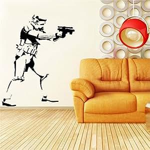 """Star Wars Stormtrooper Art Desire Sticker mural en vinyle pour chambre enfant Motif 28 """"x35"""" en Silhouettes de la société"""