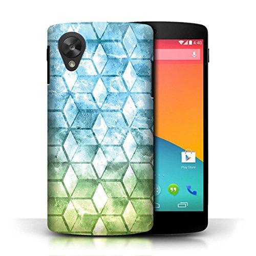 Etui / Coque pour LG Google Nexus 5/D821 / Vert/Bleu conception / Collection de Cubes colorés Bleu/verd