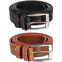 Hob London Fashion With Device Black Brown Combo Belt For Men's (HLF-H-BLT-BK-BR)