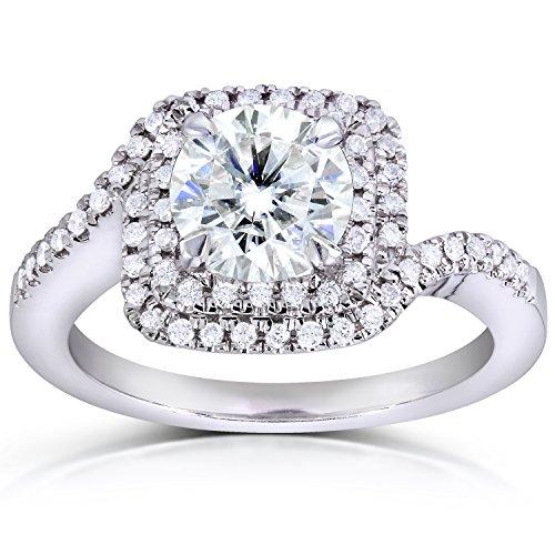 Intelligent Da Donna 14k Bianco Oro 3 Pietra Originale Diamante Fidanzamento To Rank First Among Similar Products Con Diamanti