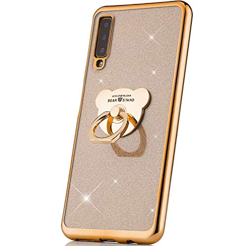 JAWSEU Brillante Brillo Funda Compatible Samsung Galaxy