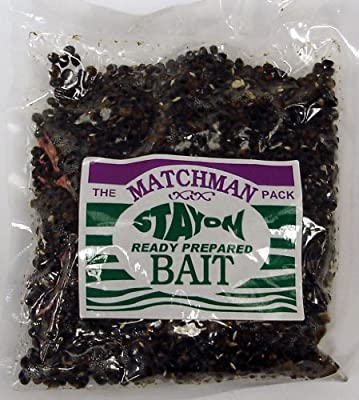 The Matchman Pack Stay On Ready Prepared Bait - Hemp Seed. Carp, Tench, Roach, Dace, Chub, Bream and Barbel. by Conx2