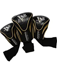 NHL Pittsburgh Penguins 3 Pack Contour Headcovers by Team Golf