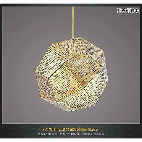 Ty721-Testa singola piccoli lampadari a personalizzare il villaggio creativo lampadario in ferro lampadari creative lampade a soffitto lampade retrò DW-D0633-32 Titanio - Perle Di Titanio